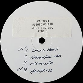 [Just Testing, white label test press. 1, side 1]