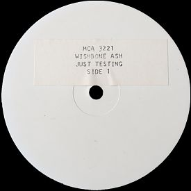 [Just Testing, white label test press. 2]