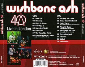 [40th Anniversary - Live in London 2CD cover art 2]