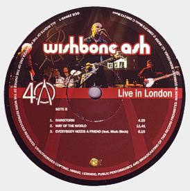 [40th Anniversary - Live in London LP cover art 4]