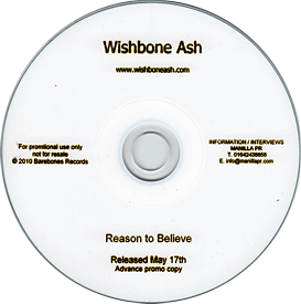 [Reason to Believe advance Promo CD-R]