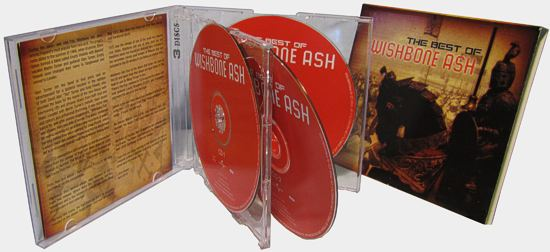 [The Best of Wishbone Ash - South African 3CD Compilation cover art, Jewel Case and Slipcase]