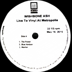 [Live to Vinyl at Metropol, acetate cover art 3]