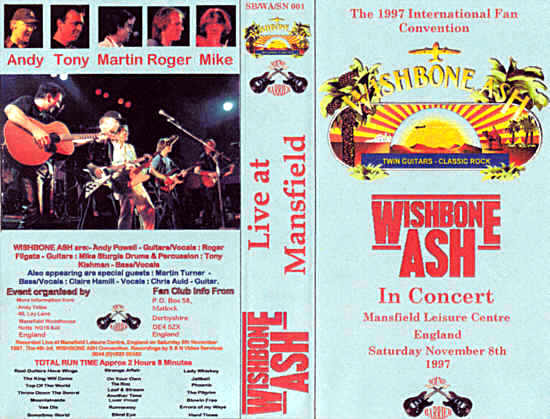 [Wishbone Ash Live at Mansfield - AshCon97 Video cover art]