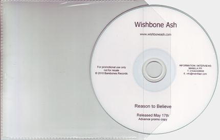 [Reason to Believe promo CD-R]